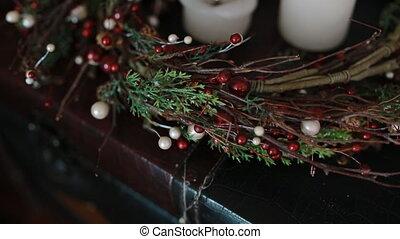 Chrismas decoration with cadnles - Chrismas decoration with...