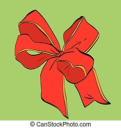 Red festive bow sash