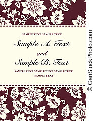 Vector Burgundy Rose Frame - Vector floral frame with sample...
