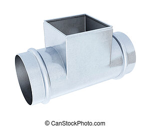Tee pipe reducer isolated on a white background. 3d...