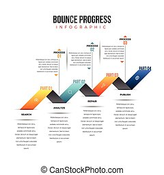 Bounce Progress Infographic - Vector illustration of bounce...