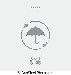 Constant protection - Minimal vector icon