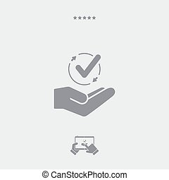 Service offer - Data synchronization - Minimal icon