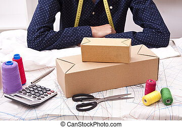 man working in your business with packages to send by courier