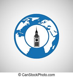 traveling world london monument design graphic - traveling...