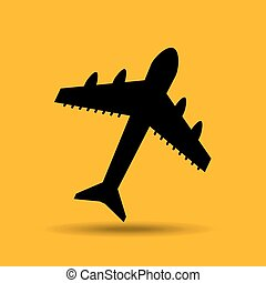travel concept transport airport plane button design graphic