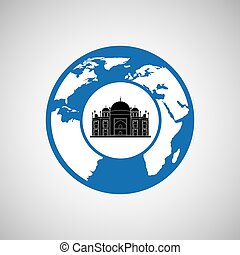 traveling world monument rome design graphic - traveling...