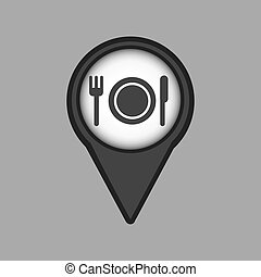 travel concept location map restaurant design graphic
