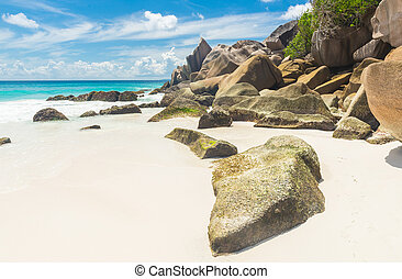 Anse Petite - Beautifully shaped granite boulders and a...