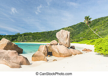 Anse Coco - Beautifully shaped granite boulders in the...