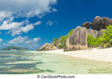 Anse Source d'Argent - Famous view at beautifully shaped...