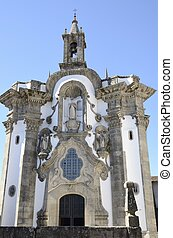 Church in Tui, a town of the province of Pontevedra, in...