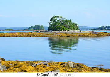 Little French Island in Maine - Casco Bay island with a...