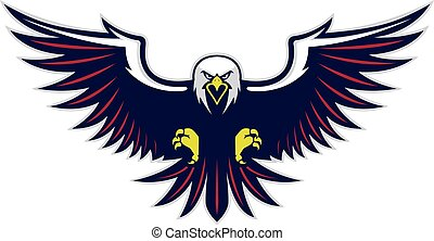 Flying eagle mascot - Clipart picture of a flying eagle...