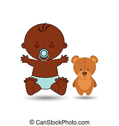 cute baby afro toy design