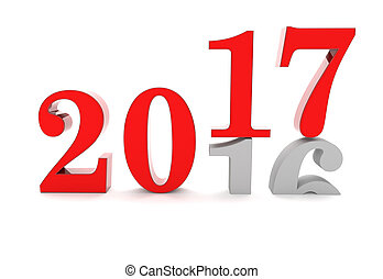 2017 2016 Change - Years 2016 and 2017 on the white...