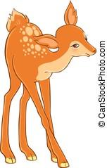 Beautiful cartoon deer