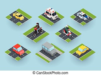 Public Transportation. Traffic Items Collection - Public...