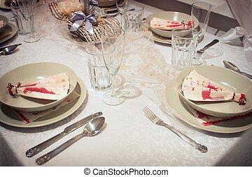 美麗, 桌子, 确定, 聖誕節