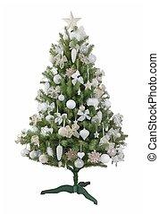 Christmas tree - a beautiful Christmas tree on a white...
