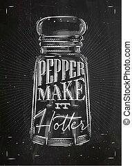 Poster pepper castor chalk - Poster pepper castor lettering...