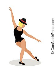 Jazz Dancer Tap Dance, Jitterbug, Swing, Lindy Hop - Blond...