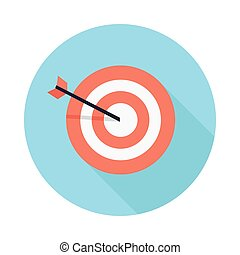 Pictograph Target Icon Isolated on White - Pictograph target...