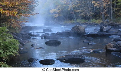 Algonquin river rapids in autumn - An Algonquin river rapids...