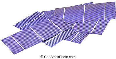 Photo-voltaic cells - pile of solar cells