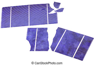 Broken Solar Cells - Broken photo-voltaic cells