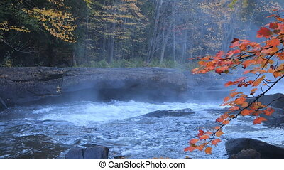 Algonquin river rapids in beautiful fall colors - An...