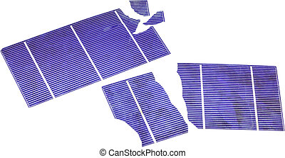 Broken Solar Cells - Broken photovoltaic cells