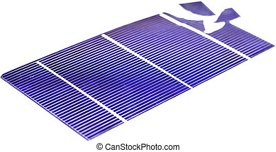 Broken Solar Cell - Single broken photovoltaic cell