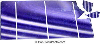 Broken Solar Cell - Single broken photovoltaic cell