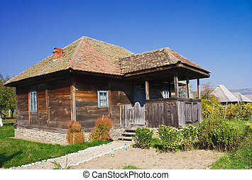 Old house - An old house made of wood from Romania