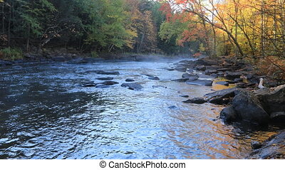 Mist over Algonquin river in fall - A Mist over Algonquin...