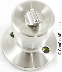 Shiny silver Doorknob - Unattached doorknob on white