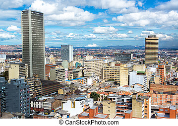 Downtown Bogota, Colombia - View of downtown Bogota,...