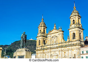 Cathedral in Bogota, Colombia - View of the cathedral in the...