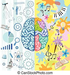 Creative Brain Composition - Creative brain composition with...