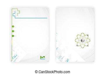 Medical template brochure design set