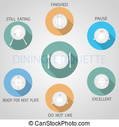 Rules of etiquette. - Vector illustration of the rules of...