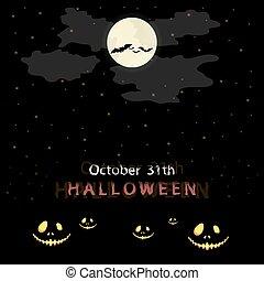 Halloween message design background.