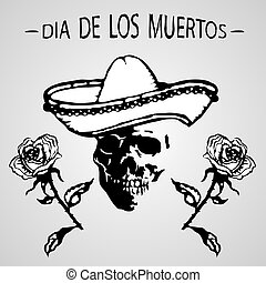 Day of the Dead (Dia de los Muertos). The skull in a...