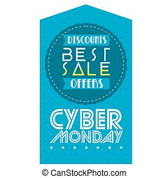 Cyber monday - Isolated banner with text, Cyber monday...
