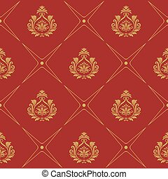 Pattern in baroque style. Elegance wallpaper decor with...