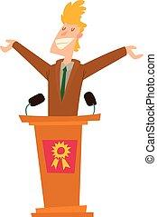Políticos,  vector, Conjunto, gente