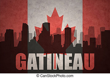 abstract silhouette of the city with text Gatineau at the...