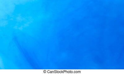 Abstract Blue Color Liquid Backdrop - blue ink dissolves in...