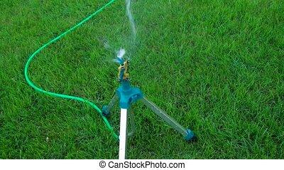 Garden watering sustem working from above - Garden watering...